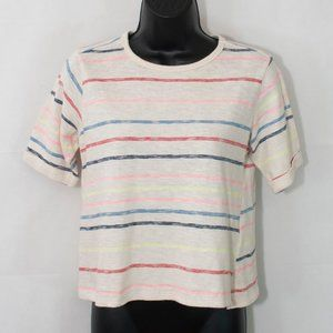 Anthro Postmark Striped Sweater Top Cropped 3006X
